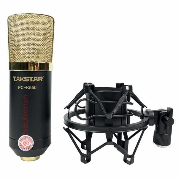 Takstar PC-K550✅ Micro thu âm cao cấp, chính hãng ✅Thiết kế mạ vàng sang trọng kèm chất lượng âm thanh cao ✅ thu âm âm, hát karaoke online, live stream