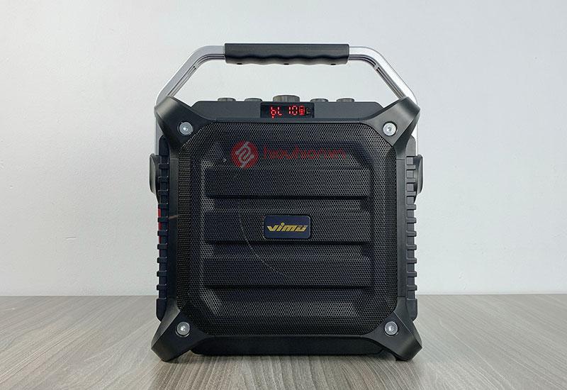loa karaoke xách tay vimu k3h có thiết kế nhỏ gọn, kèm tay xách tiện lợi