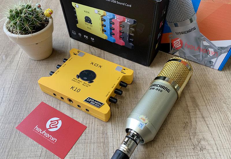 SoundCard XOX K10 2020 và mic Woaichang BM-900