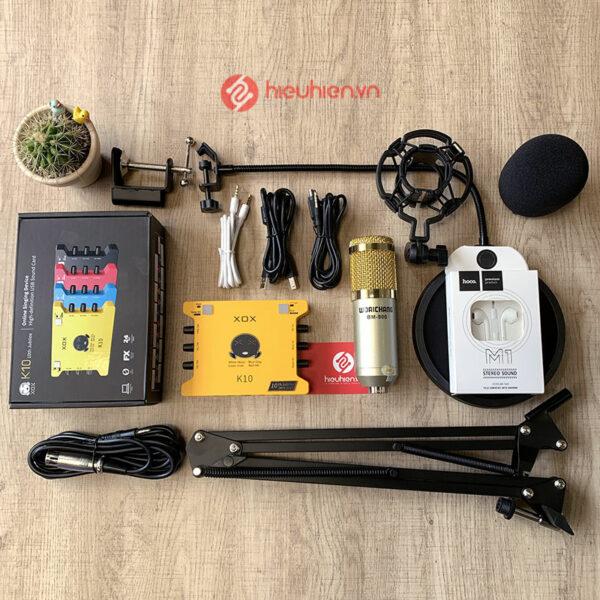 Combo hat Livestream XOX K10 2020 + Kèm mic Woaichang BM-900 hay, giá rẻ đáng mua dùng thu âm, hát karaoke, live Livestream mạng xã hội Facebook, bigo live