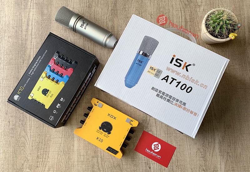 Combo Sound Card XOX K10 Phiên Bản Mới 2020 + Kèm Mic ISK AT100