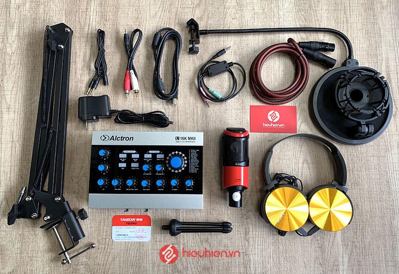 Trọn bộ mic Takstar PC K320 và SoundCard Alctron U16K MK2 chính hãng kèm 12 hiệu ứng âm thanh hay