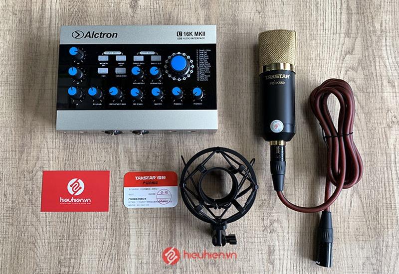 Combo Soundcard Alctron U16K MK2 và Takstar K550 - Combo Thu Âm Cao Cấp