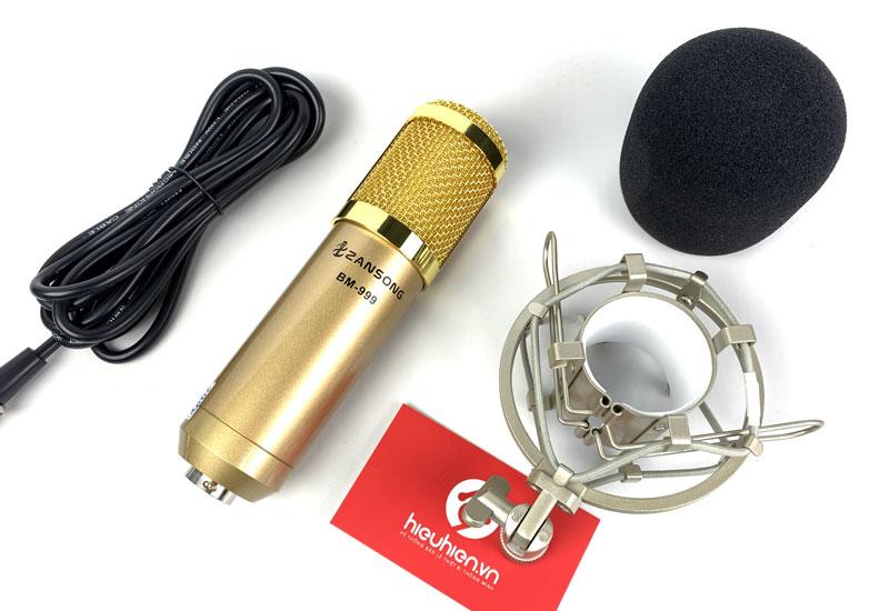 Combo Micro thu âm độ nhạy cao Zansong BM999