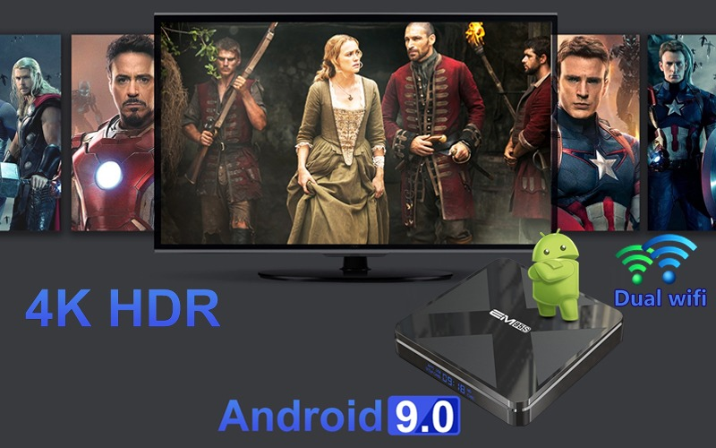 enybox em95s android 9 4k hdr wifi dual band