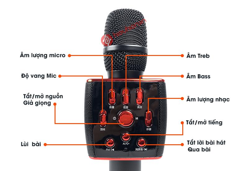 Bộ chỉnh âm thanh chuyên nghiệp của Micro Karaoke Bluetooth Sansui M6