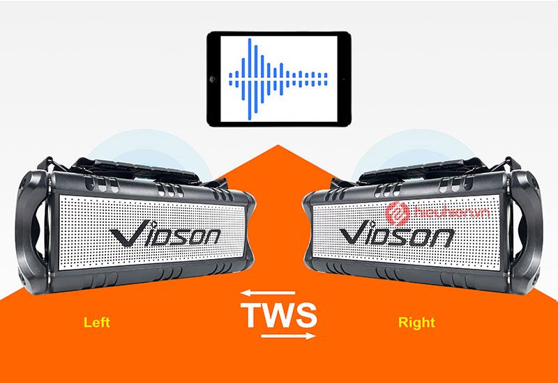 Loa Bluetooth nghe nhạc Vidson D8M tích hợp công nghệ hiện đại, TWS ghép đôi loa