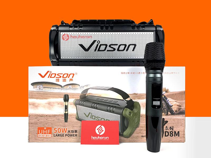 Vidson D8M loa Bluetoth nghe nhạc đỉnh cao - công suất 50W