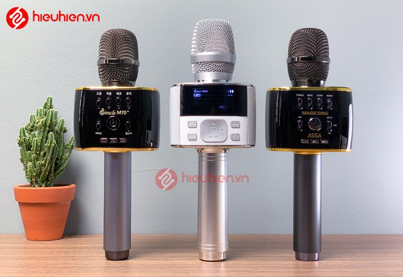 bộ 3 micro karaoke bluetooth miracle m70, m70+, m100