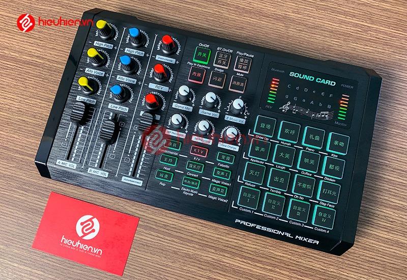 Sound Card T08 - Card Thu Âm Livestream kiêm Mixer