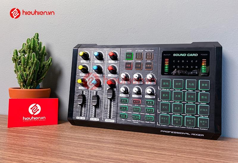 Sound Card T08 - Card Thu Âm Livestream Tích Hợp Bluetooth - AutoTune