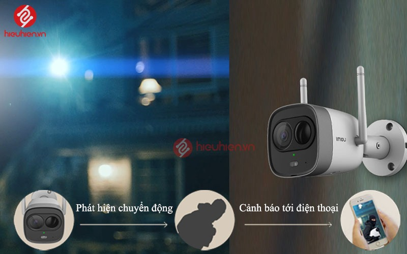 phat hien chuyen dong tren ipc g26ep imou camera wifi dahua bullet new full hd