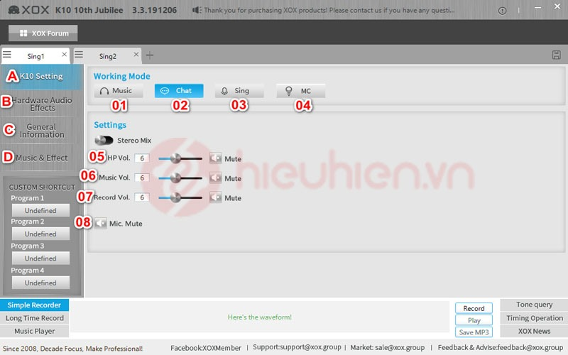giao dien chinh cua xox control panel k10 10th tieng anh 2020