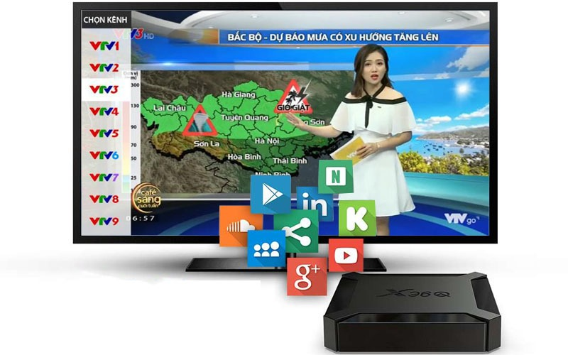 ung dung chay muot tren tv box x96q
