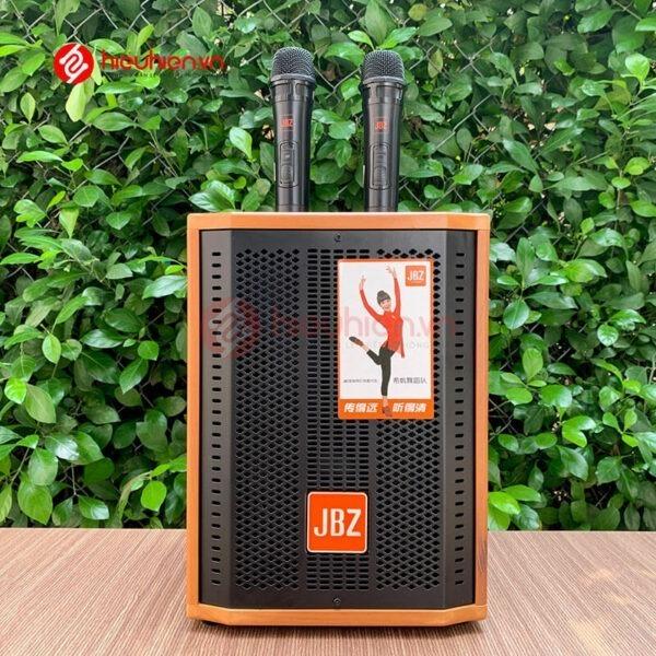 loa kéo jbz j6 - loa karaoke di động kèm 2 micro không dây