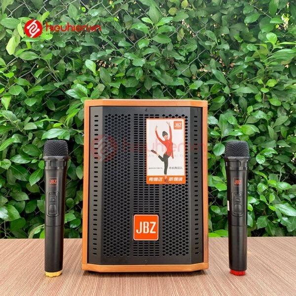 loa kéo jbz j6 - loa karaoke di động kèm 2 micro không dây - hình 02