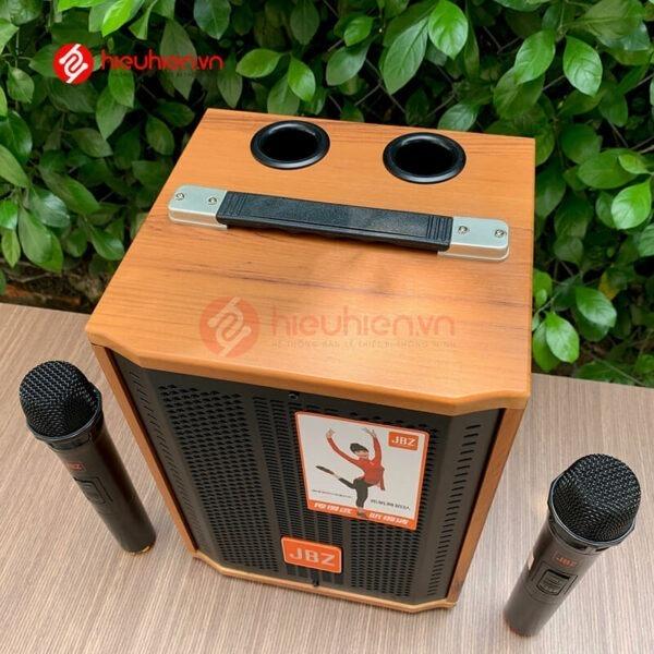 loa kéo jbz j6 - loa karaoke di động kèm 2 micro không dây - hình 03