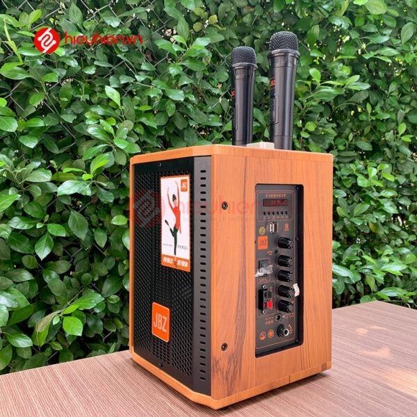 loa kéo jbz j6 - loa karaoke di động kèm 2 micro không dây - hình 06