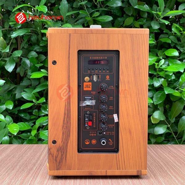 loa kéo jbz j6 - loa karaoke di động kèm 2 micro không dây - hình 07