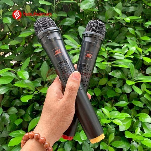 loa kéo jbz j6 - loa karaoke di động kèm 2 micro không dây - hình 11
