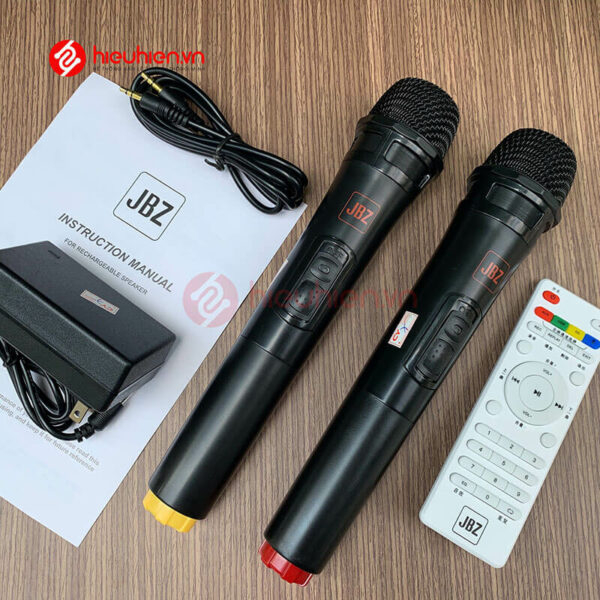 loa kéo jbz j6 - loa karaoke di động kèm 2 micro không dây - hình 13