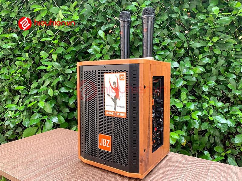 loa kéo jbz j6 - loa karaoke di động kèm 2 micro không dây - hình 15