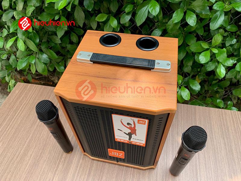loa kéo jbz j6 - loa karaoke di động kèm 2 micro không dây - hình 19