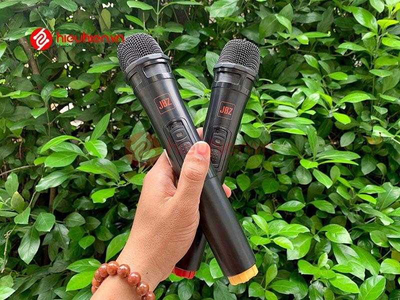 loa kéo jbz j6 - loa karaoke di động kèm 2 micro không dây - hình 21