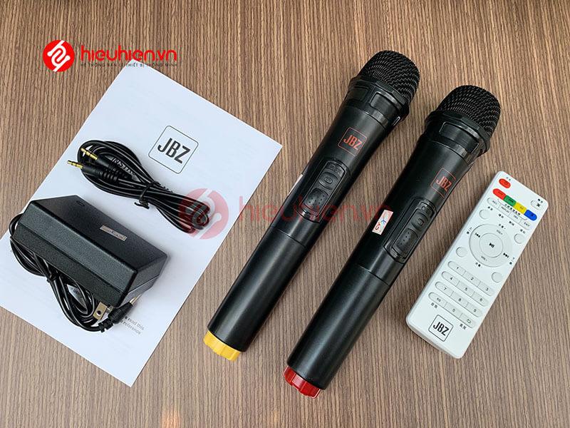 loa kéo jbz j6 - loa karaoke di động kèm 2 micro không dây - hình 23