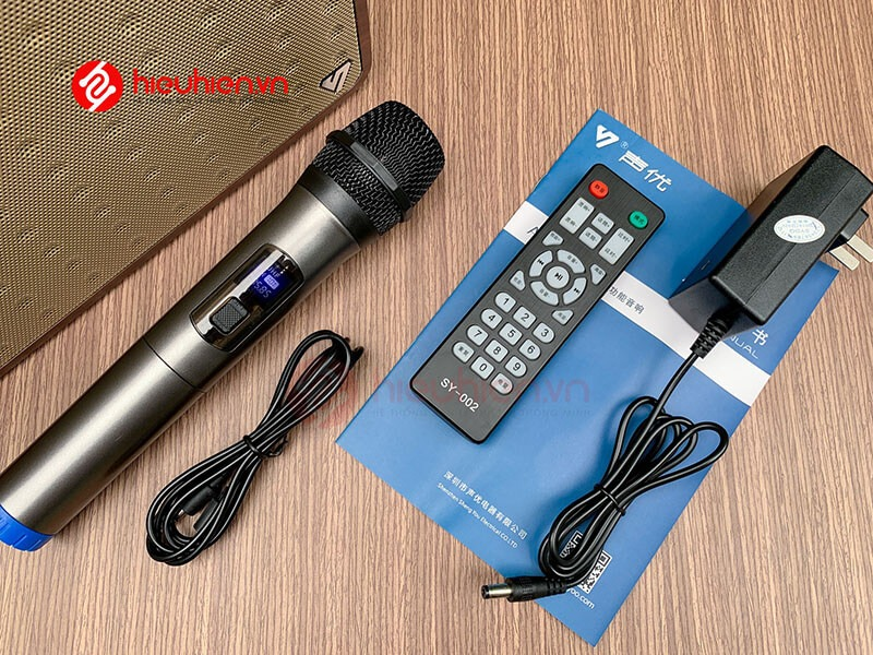 Loa karaoke di động ShengYouA5 đầy đủ phụ kiện, tặng kèm micro không dây cao cấp