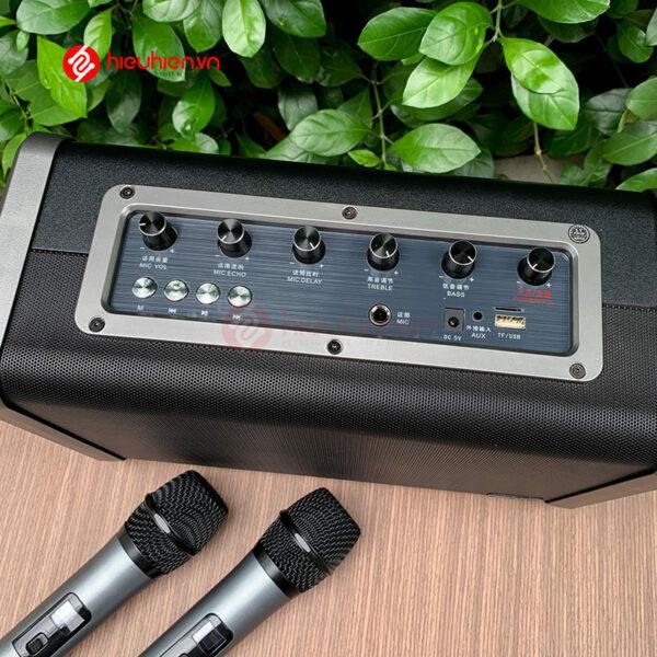 shengyou a7 - loa karaoke di động kèm 2 micro không dây - hình 07