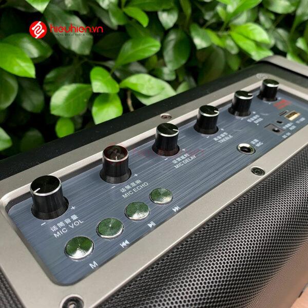 shengyou a7 - loa karaoke di động kèm 2 micro không dây - hình 08