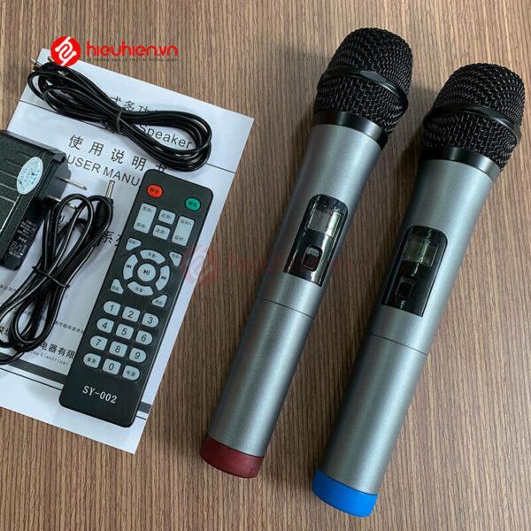 shengyou a7 - loa karaoke di động kèm 2 micro không dây - hình 09