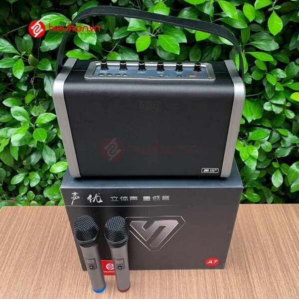 shengyou a7 - loa karaoke di động kèm 2 micro không dây - hình 10