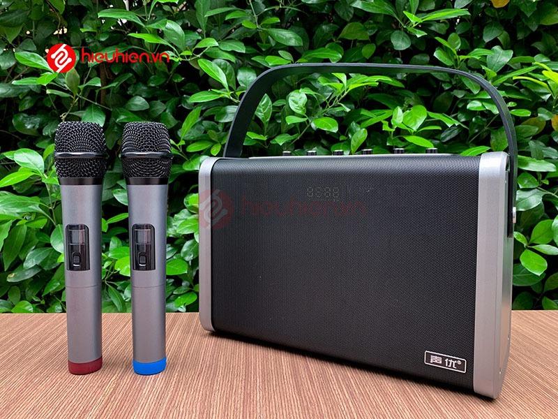 shengyou a7 - loa karaoke di động kèm 2 micro không dây - hình 11