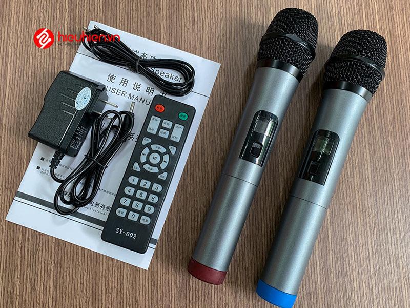 shengyou a7 - loa karaoke di động kèm 2 micro không dây - hình 19