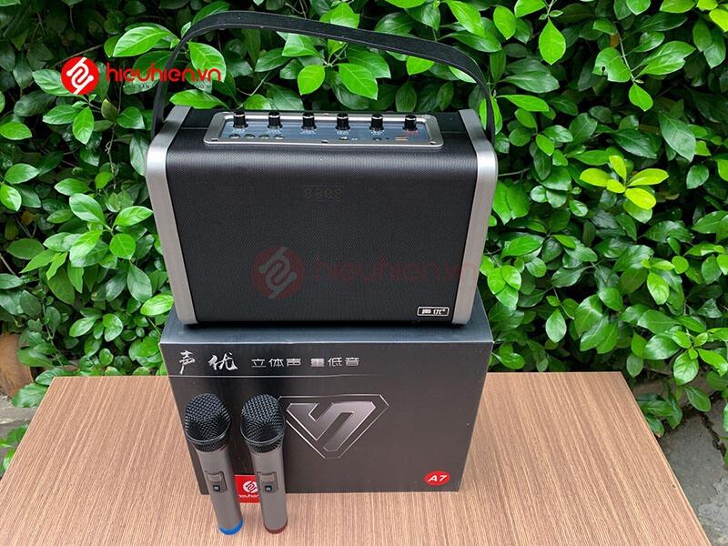 shengyou a7 - loa karaoke di động kèm 2 micro không dây - hình 22