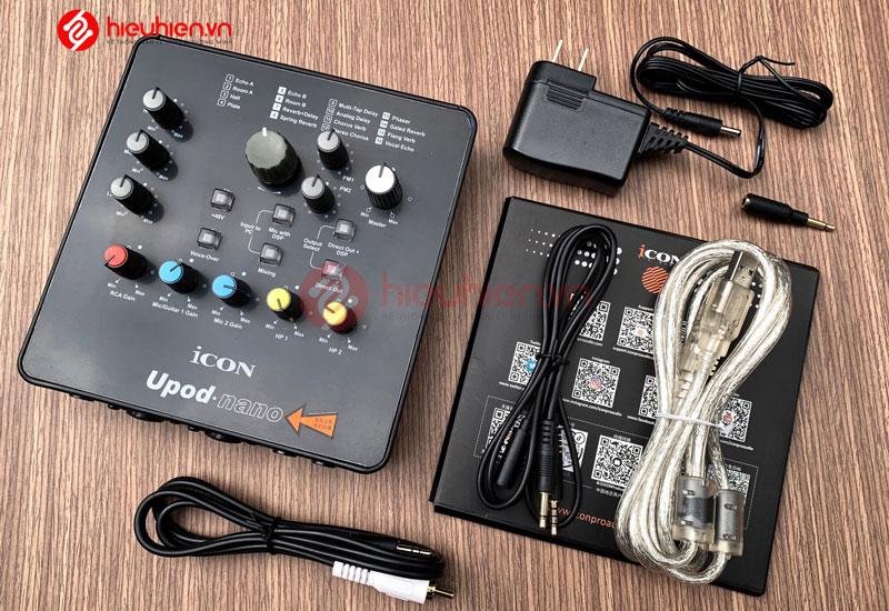 trọn bộ Sound Card Icon Upod Nano, đầy đủ phụ kiện đi kèm