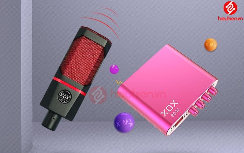 micro thu âm kết hợp với sound card xox bd40