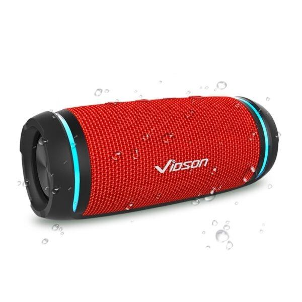 vidsion d3 mini - loa bluetooth nghe nhạc công suất 20w - màu đỏ