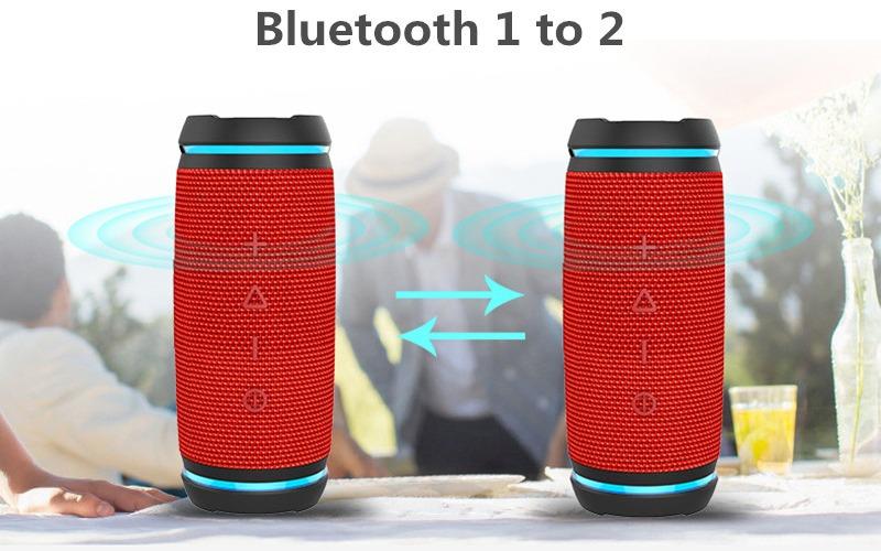 vidsion d3 mini - loa bluetooth nghe nhạc công suất 20w - kết nối 2 loa tws
