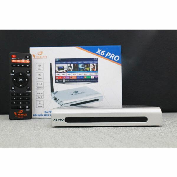 vinabox x6 pro ram 2gb android tv box giá rẻ, android 7.1.2 - hình 02