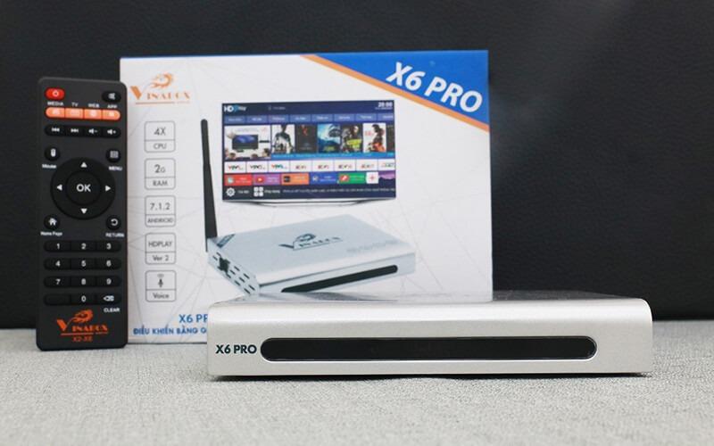 vinabox x6 pro ram 2gb android tv box giá rẻ - mặt trước sản phẩm
