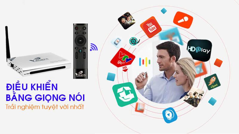 vinabox x6 pro ram 2gb android tv box giá rẻ, hỗ trợ tìm kiếm bằng giọng nói