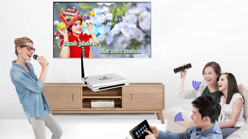 vinabox x6 pro ram 2gb android tv box giá rẻ - hát karaoke online
