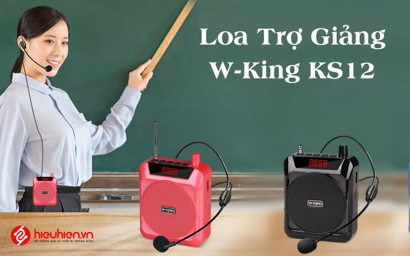 w-king ks12 - loa trợ giảng công suất 5w - tặng micro đeo tai