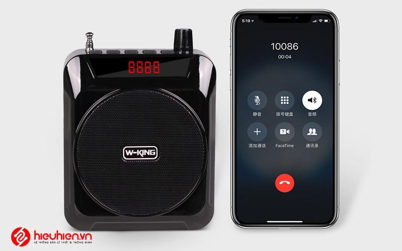 w-king ks12 - loa trợ giảng công suất 5w - kết nối điện thoại phát nhạc
