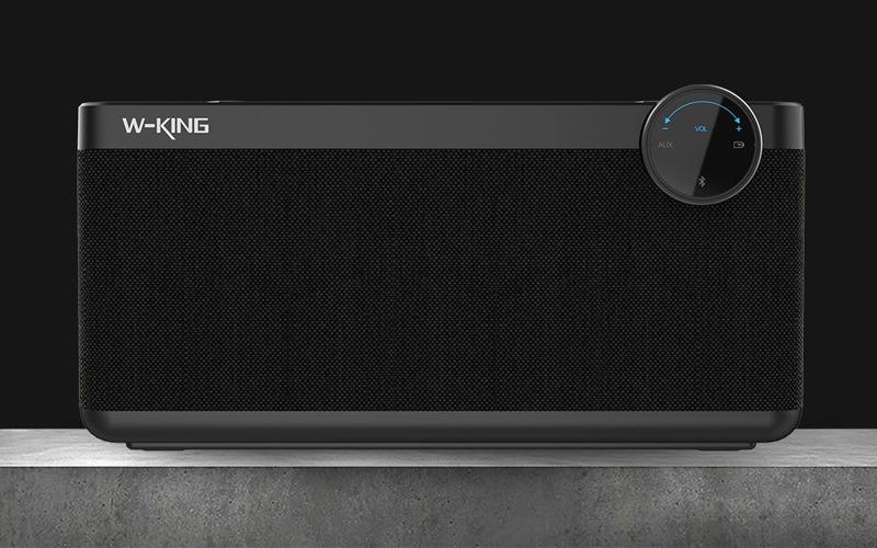 loa bluetooth w-king x10 công suất 25w, âm bass cực hay - thiết kế