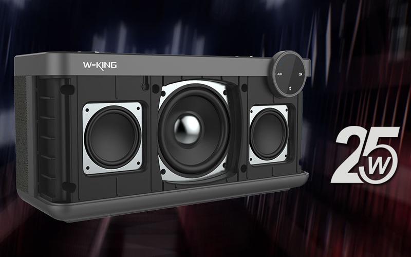 loa bluetooth w-king x10 công suất 25w, âm bass cực hay - cấu tạo