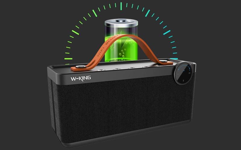 loa bluetooth w-king x10 công suất 25w, âm bass cực hay - pin sạc
